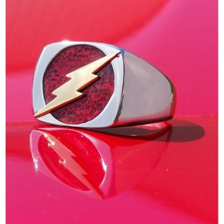Flash Symbol Stainless Steel Ring
