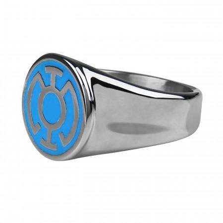 Blue Lantern Symbol Stainless Steel Ring