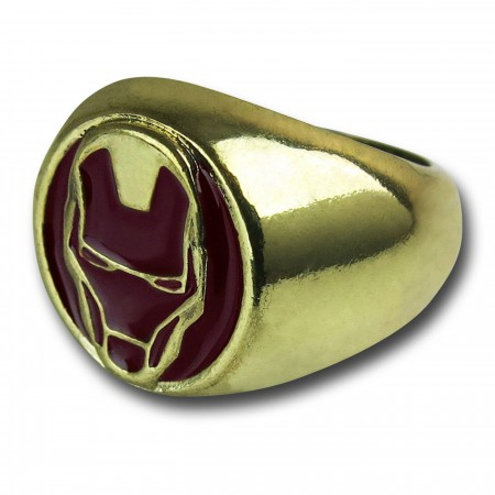 Iron Man Brushed Brass Ring