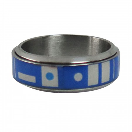 Star Wars R2D2 Stainless Steel Plated Spinner Ring
