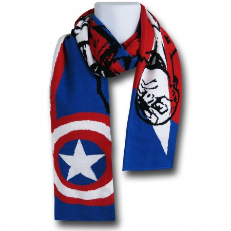 Captain America Striped Scarf