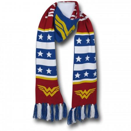 Wonder Woman Symbol & Stars Scarf