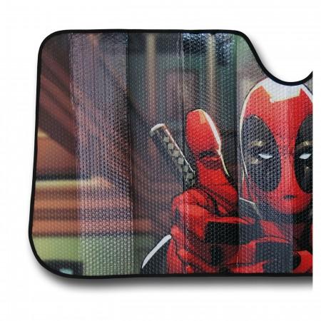 Deadpool Thumbs Up Car Sunshade
