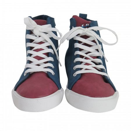 Captain America Shield Logo Men's High Top Sneakers
