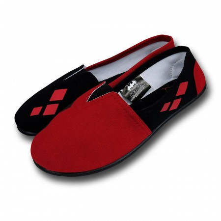 Harley Quinn All-Over Print Women's Slip-On Shoes
