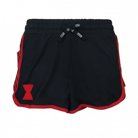 Black Widow Symbol Women's Shorts