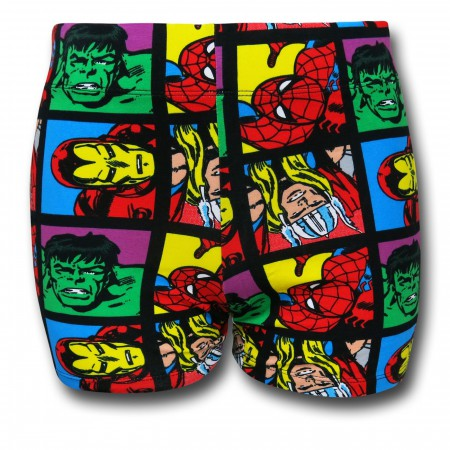 Marvel Squares Women's Short Shorts