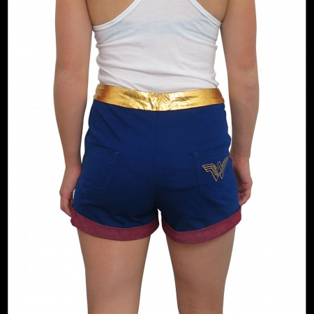 Wonder Woman High Waisted Costume Shorts