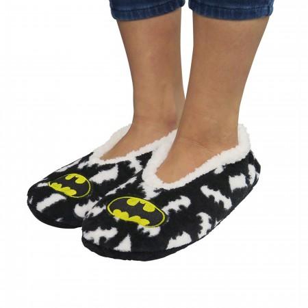 Batman Cozy Fuzzy Women's Slipper Socks