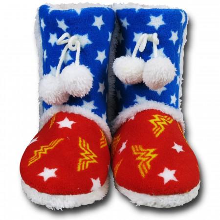 Wonder Woman Boot Slippers