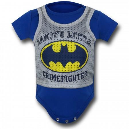 Batman Athletic Symbol Infant Snapsuit