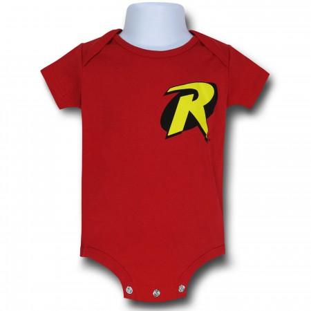 Robin Symbol Red Infant Snapsuit