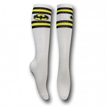 Batman Symbol Athletic Stripes Knee-High Socks