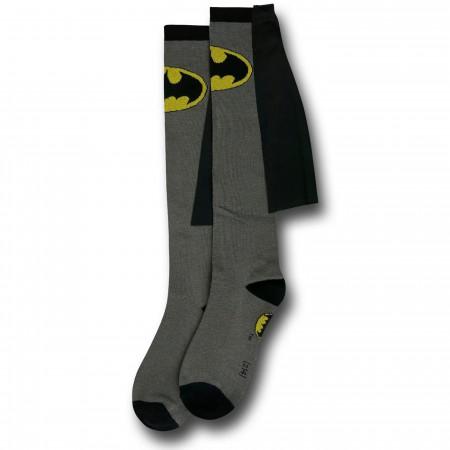 Batman Caped Women's Grey Knee-Highs Socks