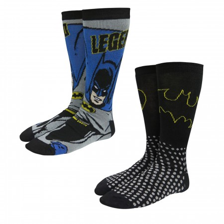 Batman Legend Crew Socks 2-Pack