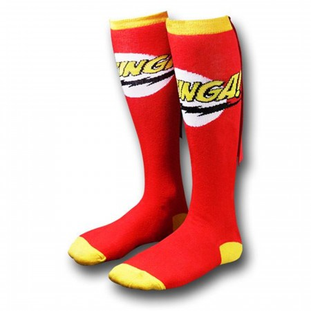 Big Bang Theory Red Bazinga Women's Caped Socks
