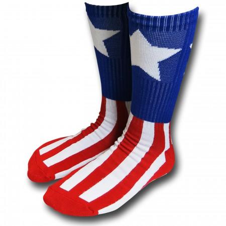 Captain America Athletic Socks 2-Pack