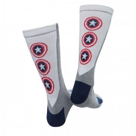 Captain America Vibranium Weave Crew Socks 2-Pack