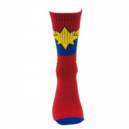 Captain Marvel Avenger Activated Athletic Socks
