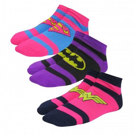 DC Trinity Women's Striped Low-Cut Sock 3 Pack