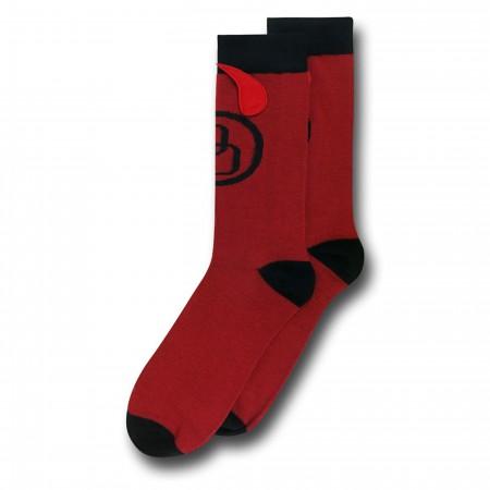 Daredevil Horns Crew Socks