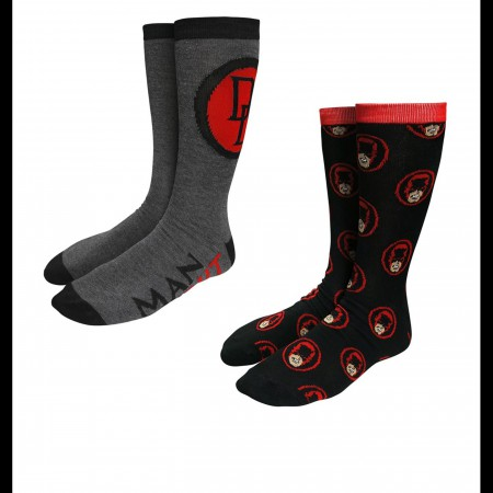 Daredevil Symbols & Heads Sock 2 Pack
