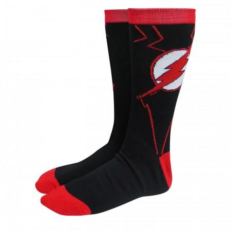 Flash Red & Black Armor Crew Socks