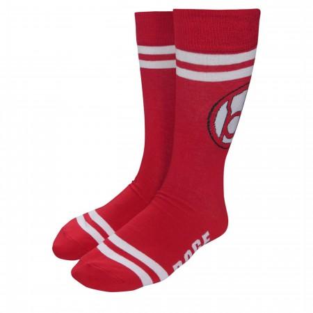 Green Lantern Red Lantern Rage Socks