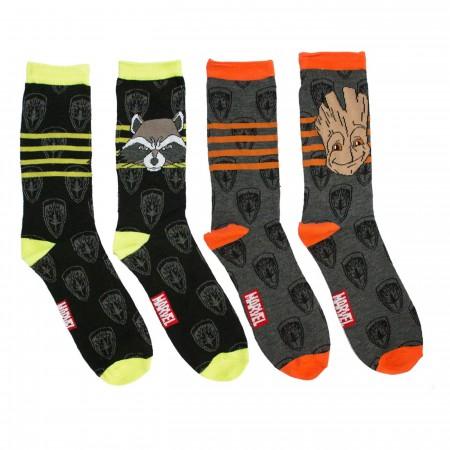 GOTG Baby Groot & Rocket Crew Sock2-Pack