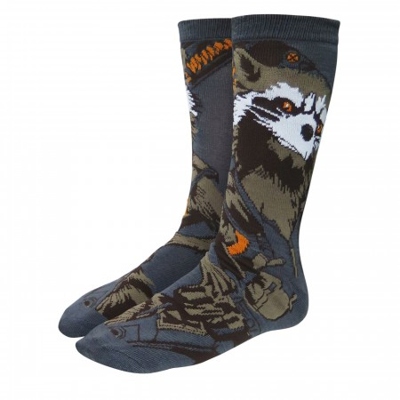 Infinity War GOTG Rocket Raccoon Crew Socks