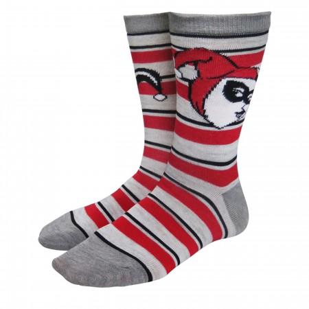 Harley Quinn Stripes & Diamonds Women's Socks