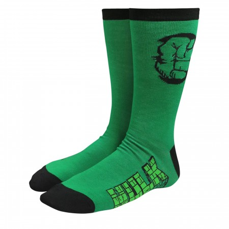 Hulk Fist Pump Crew Socks