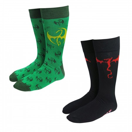 Iron Fist Symbols Sock 2-Pack