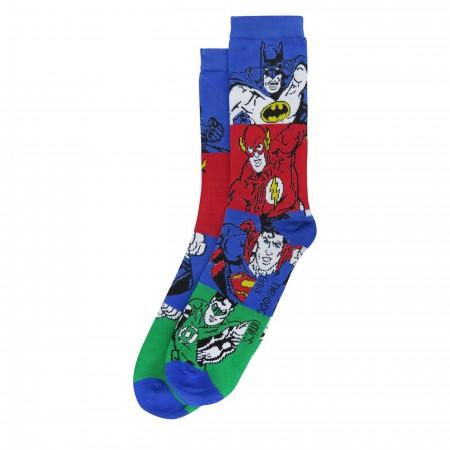 Justice League Retro Socks 2-Pack