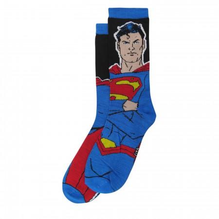 Superman Big Blue Cheese Crew Socks 2-Pack