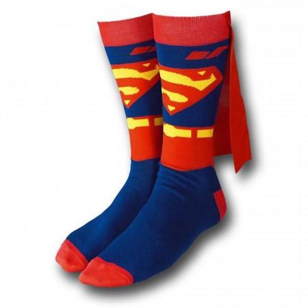 Superman Crew Socks With Cape