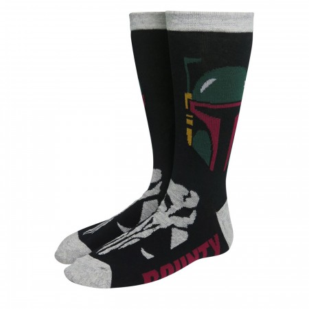 Star Wars Boba Fett Bounty Hunter Crew Socks