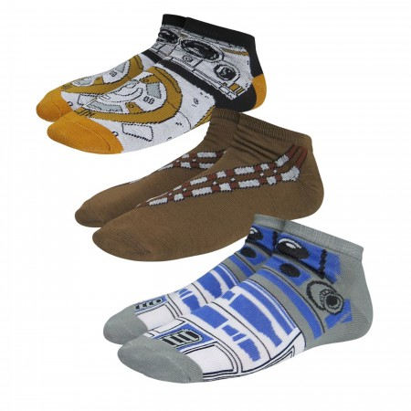 Star Wars Now & Then Women's Low-Cut Sock 3 Pack
