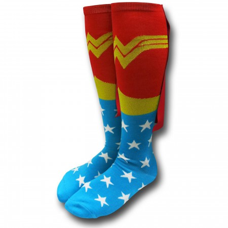 Wonder Woman Women's Knee-High Socks w/Capes
