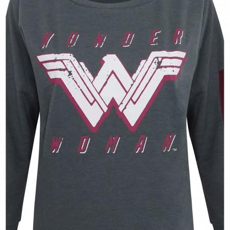 Wonder Woman Dye Heather Women's Sweatshirt