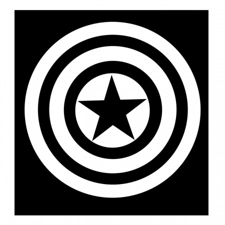 Captain America White Shield Sticker