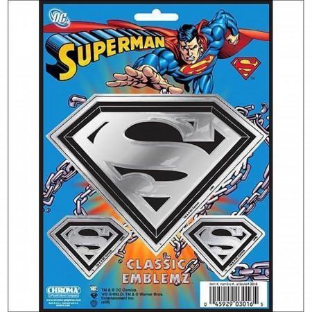Superman Symbol Chrome Car Sticker