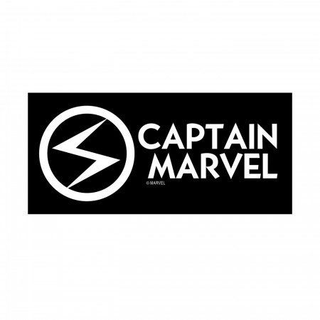 Captain Marvel White Decal