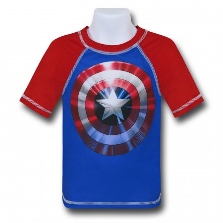 Captain America Kids Rashguard