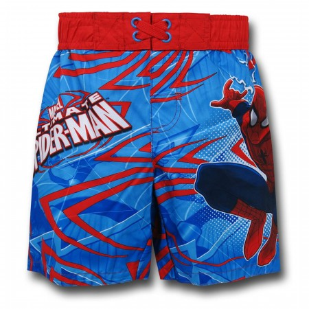 Spiderman Kids Swim Trunks