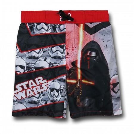 Star Wars Force Awakens Kylo Ren Kids Swim Trunks