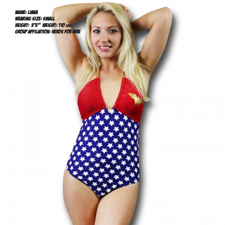 Wonder Woman Bandeau One-Piece Swimsuit