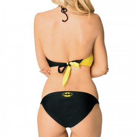 Batman Black & Yellow Halter Bikini