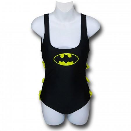 Batman One-Piece Swimsuit w/Bows