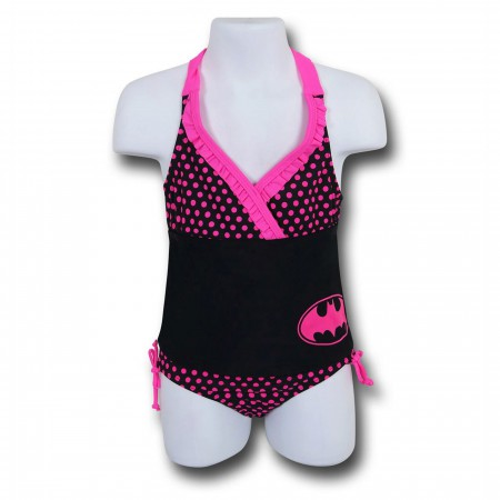 Batman Ruffled Halter Kids Tankini